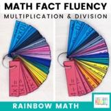 Rainbow Math: Multiplication and Division Math Fact Fluency Flash Cards Bundle
