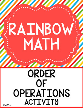 Rainbow Math - Order of Operations Activity