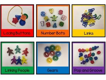 Rainbow Math Pocket Labels {EDITABLE}