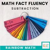Rainbow Math: Subtraction Fact Fluency Flash Card System