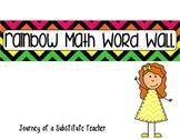 Rainbow Math Wall Words