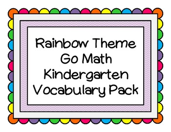 Rainbow Math Word Wall K Pack