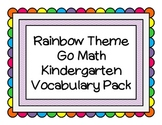 Rainbow Math Word Wall K Pack