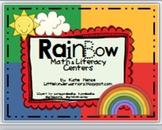 Rainbow Math and Literacy Centers