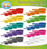 Rainbow Measuring Cup Clipart {Zip-A-Dee-Doo-Dah Designs}