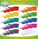 Rainbow Measuring Cup Clipart {Zip-A-Dee-Doo-Dah Designs}