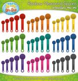Rainbow Measuring Spoon Clipart {Zip-A-Dee-Doo-Dah Designs}