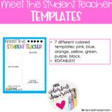 Rainbow Meet the Student Teacher Templates Bundle