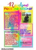 Rainbow Meet the Teacher Letter EDITABLE