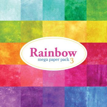 Designer's Resource: Rainbow Mega Pack # 3 - 30 - 12 x 12 Sheets Paper
