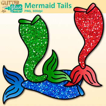 Rainbow Mermaid Clip Art | Under the Sea Graphics for Classroom Decor