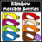 Rainbow Message in a Bottle Clipart