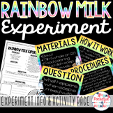 Rainbow Milk Experiment FREEBIE!