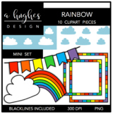 Rainbow Mini Clipart Bundle {A Hughes Design}