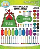 Rainbow Miniature Golf Clipart {Zip-A-Dee-Doo-Dah Designs}
