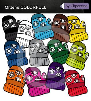 Rainbow Mitten Clip Art
