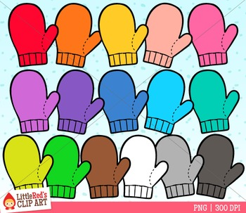 Rainbow Mittens Clip Art