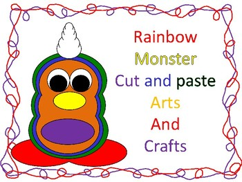 Rainbow Monster cut and paste arts and crafts