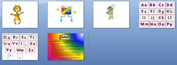 Rainbow Monsters Clip Art