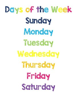 Rainbow Months of the Year & Days of the Week Posters