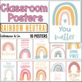 Modern Boho Rainbow Motivational Posters | Class Decor