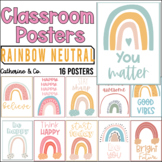 Modern Boho Rainbow Motivational Posters   Class Decor