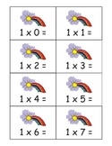 Rainbow Multiplication Flashcards: 0-12 Tables