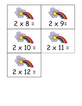 Rainbow Multiplication Flashcards: 0-12 Tables