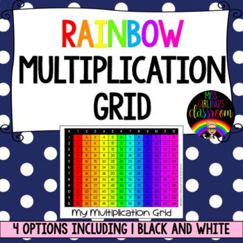 Rainbow Multiplication Grid