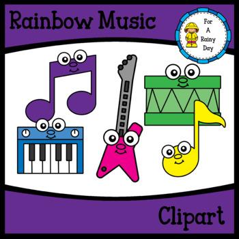 Rainbow Music Clipart