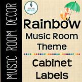 Rainbow Music Room Theme - Cabinet Labels, Rhythm and Glues