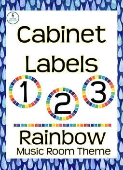 Rainbow Music Room Theme - Cabinet Labels, Rhythm and Glues