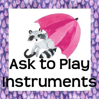 Rainbow Music Room Theme - Classroom Procedures, Rhythm and Glues