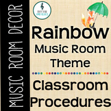 Rainbow Music Room Theme - Classroom Procedures, Rhythm and Glues