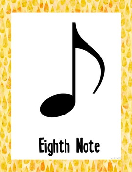 Rainbow Music Room Theme - Note Names, Rhythm and Glues