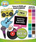 Rainbow Music Technology Clipart Bundle {Zip-A-Dee-Doo-Dah Designs}