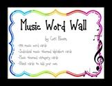 Rainbow Music Word Wall