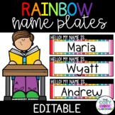 Rainbow Name Plates (Editable)