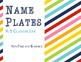 Rainbow Name Plates for Elementary Classroom