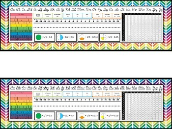 EDITABLE Rainbow Name Plates for Upper Grades