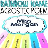 Rainbow Name Poems