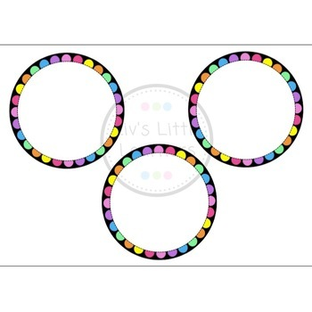 Rainbow Dot Name Tags