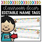 Rainbow Name Tags