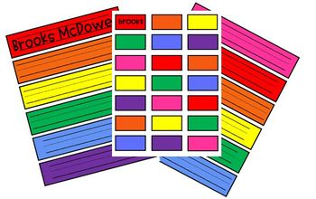 Rainbow Name Tags and Labels
