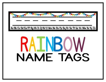Rainbow Name Tags (message for different colors)