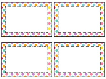Rainbow Nameplates/ Desk Tags