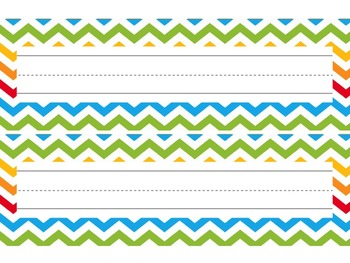 Nameplates / Deskplates / Classroom Labels {Rainbow Themed}