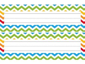 Nameplates / Deskplates / Classroom Labels {Rainbow Themed}