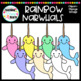 Rainbow Narwhals Clipart