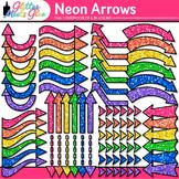 Rainbow Neon Arrows Clip Art {Glitter Pointers for Workshe
